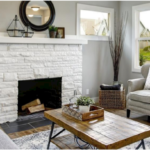 PAINTING MY STONE FIREPLACE WHITE